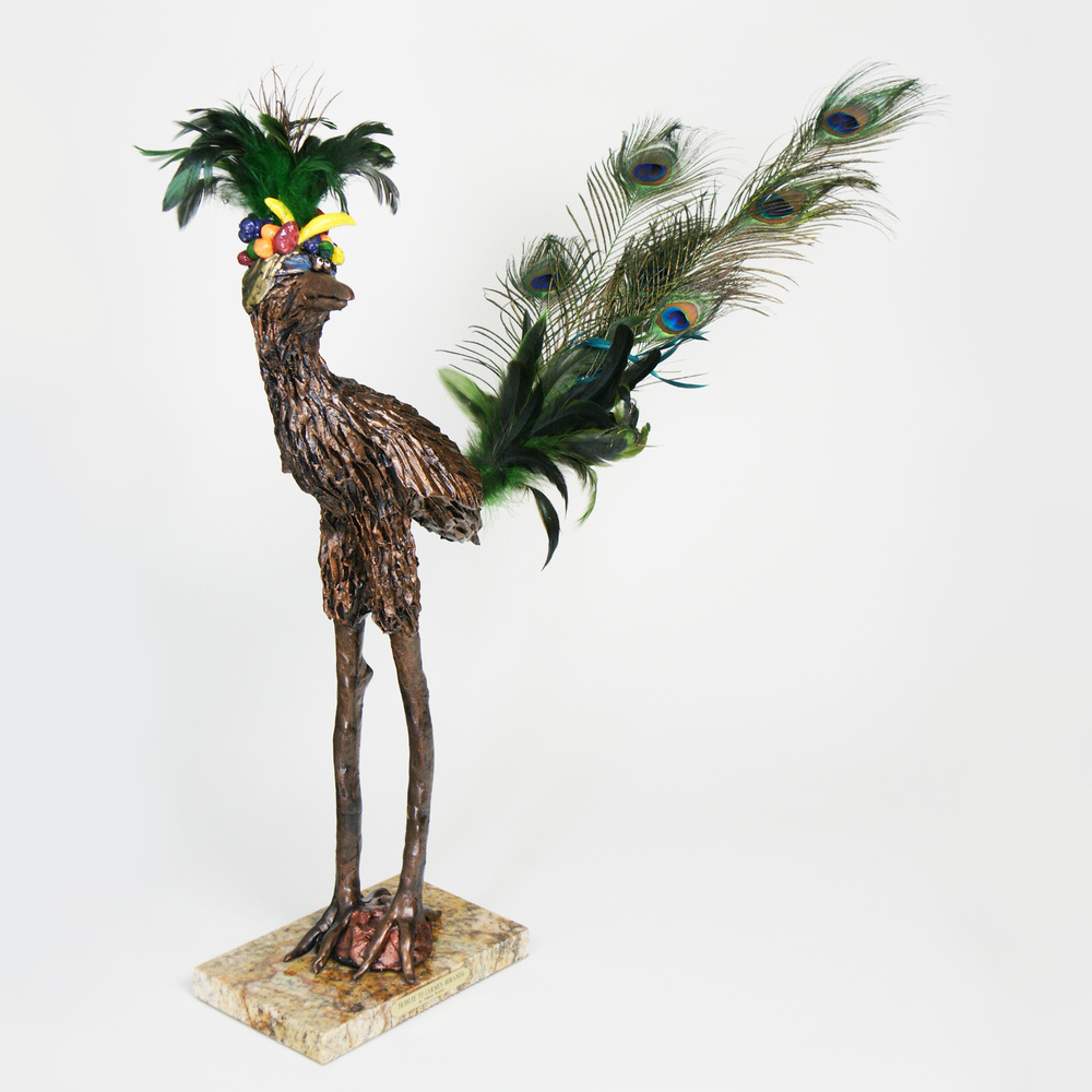 Joanie Wolter's roadrunner with banana hat